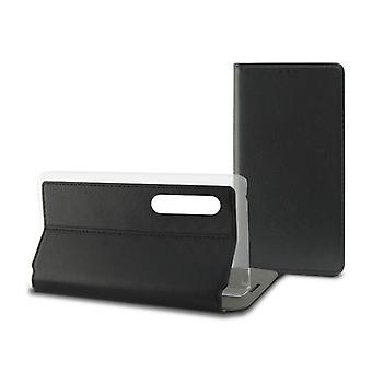 Mobiele cover case Huawei P20 Pro Contact Slim Black Textile Polycarbonaat