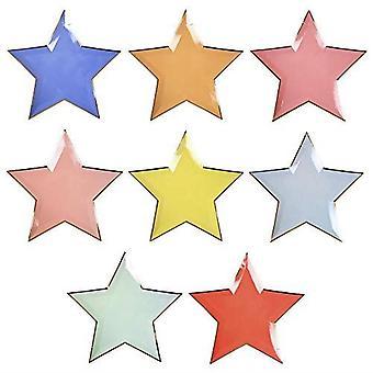 Meri Meri Jazzy Star Paper Party Plates Mixed Colours x 8