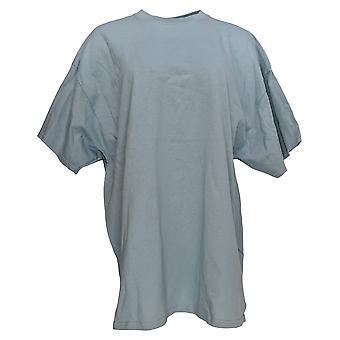 Gildan Women's Top (XXL) Basic Short Sleeve Cotton Tee Blue