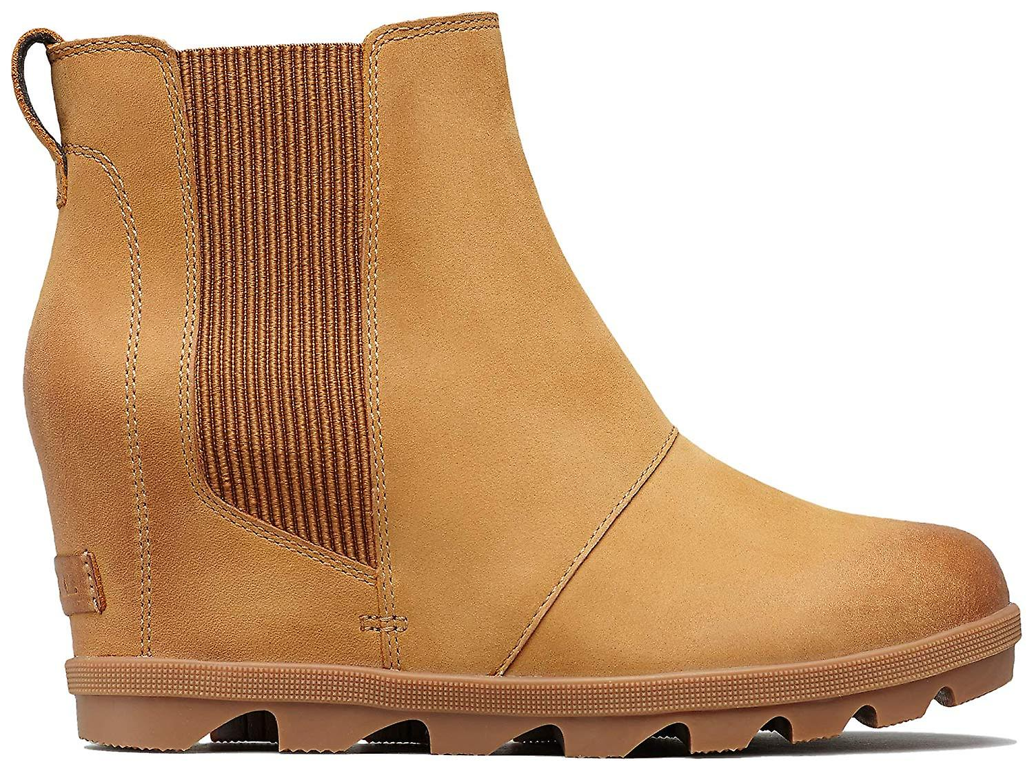 Sorel Womens Joan Of Arctic Wedge Ii Chelsea Leather Almond Toe Ankle Chelsea...