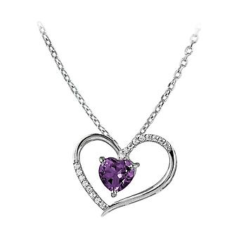 Jacques Lemans - Sterling Silver Necklace with Amethyst - SE-C118E