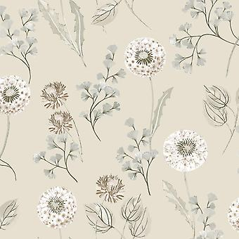 Cassara Floral Wallpaper Cream / Taupe Holden 98513