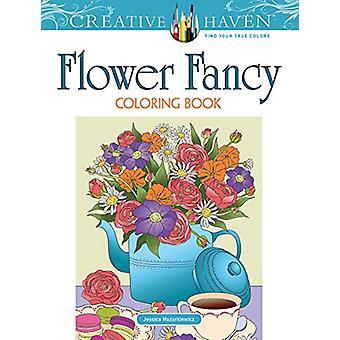 Creative Haven Flower Fancy Coloring Book by Jessica Mazurkiewicz - 9