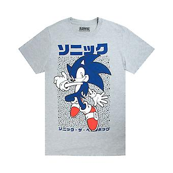 Sonic The Hedgehog Men's Gamers Short Sleeve Grey Casual T-Shirt