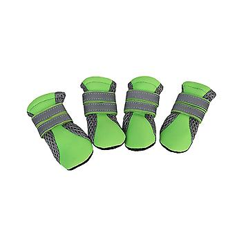 4pcs S Size Green Dogs Non-Slip Shoes