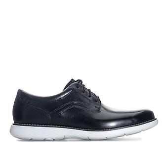 Men's Rockport Garett Plain Toe Shoe in Black