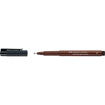 فابر كاستيل بيت الفنان Fineliner 0.7mm القلم (M، 175 داكن البني الداكن)