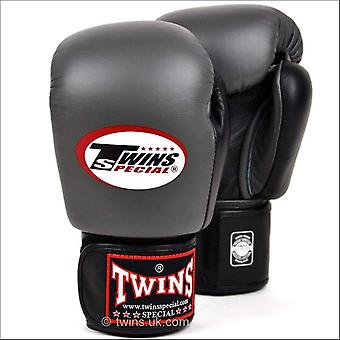 Twins special 2-tone grey-black boxing gloves