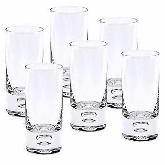Mouth Blown Crystal 6 Pc Shot or Vodka Glass Set  3 oz