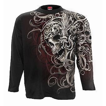 Spiral - skull shoulder wrap - allover longsleeve t-shirt