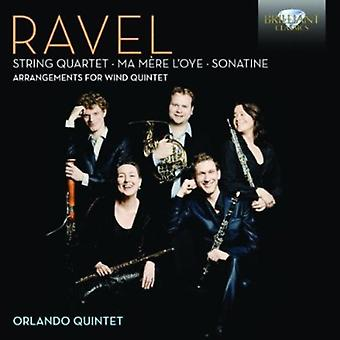 M. Ravel - Ravel: String Quartet; Ma M Re L'Oye; Sonatine (Arrangements for Wind Quintet) [CD] USA import