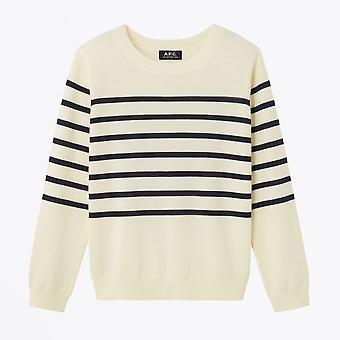 A.P.C. - Cordelia Striped Knit - Ecru