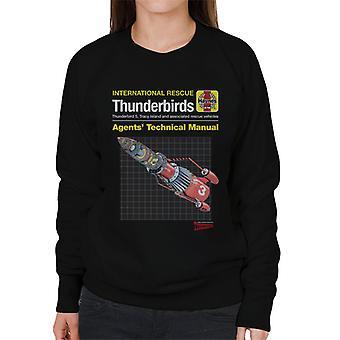 Thunderbirds 3 tekniske manual kvinder ' s sweatshirt