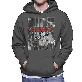 Chucky Hi Im Chucky Scars And Stitches Men's Hooded Sweatshirt