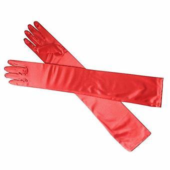 Womens Satin Evening Wear Elbow Length Long Gloves