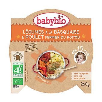 Sun Vegetables Menu Basque Chicken Organic Rice (from 15 months) 260 g