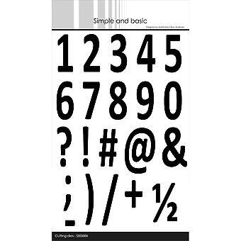 Simple and Basic Numbers XXL Dies