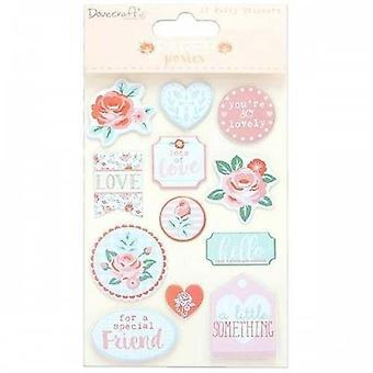 Dovecraft Paper Posies Puffy Stickers