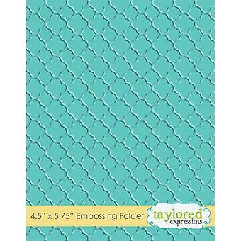 Taylored Expressions Quatrefoil Embossing Folder