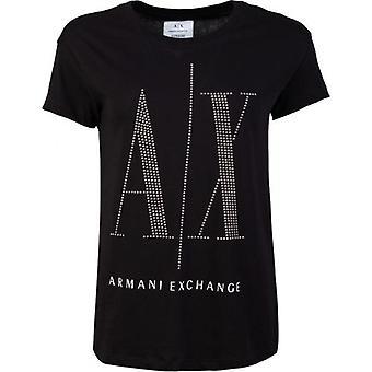 Armani Exchange AX Studded Logo T-Shirt