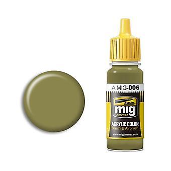 Ammo by Mig Acrylic Paint - A.MIG-0006 RAL 7008 Graugrun Opt.2 (17ml)