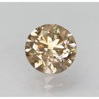 Cert 1.01 Fancy Brown VS2 Round Brilliant Enhanced Natural Diamond 6.23mm 3VG