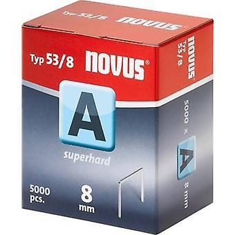 Type 53 fijne draad nietjes 5000 PC('s) Novus 042-0517 Clip Typ 53/8 afmetingen (L x W) 8 x 11.3 mm