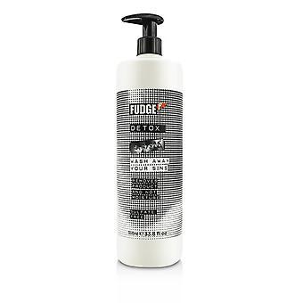 Fudge Detox Shampoo - sulfaat vrije (verwijdert Product & niet vocht) 1000ml/33,8 oz