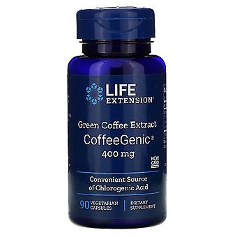 Life Extension, CoffeeGenic, Green Coffee Extract, 400 mg, 90 Vegetarian Capsule