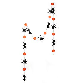 Halloween osapuoli koristelu banneri, sisätiloissa asettaa kurpitsa lepakko hämähäkki riipus