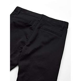 Pantalon Chino slim uniform Essentials Girl-apos,Noir, 7(S)