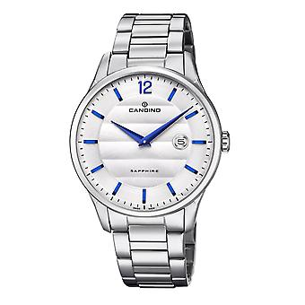 Candino C4637-1 Men's Silver Tone Dial Wristwatch With Date
