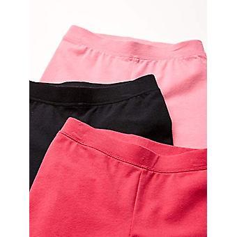 Essentials Girls' 3-Pack Leggings, roze/framboos/zwart XL (12)