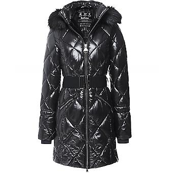 Barbour International Gameday Quilted Faux Fur Trim Jacket