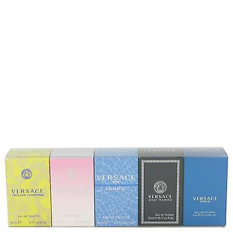 Versace Pour Homme Gift Set By Versace The Best of Versace Men's and Women's Miniatures Collection Includes .17 oz Versace Eros, .17 oz Versace Pour Homme, .17 oz Versace Man Eau Fraiche, .17 oz Bright Crystal, and .17 oz Versace Yellow Diamond