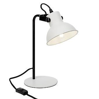 BRILLIANT Lampe Ester Tischleuchte weiß matt/schwarz | 1x D45, E14, 25W, geeignet für Tropfenlampen (nicht enthalten) |