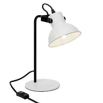 Luz brillante lámpara de mesa de éster blanco mate/negro 1x D45, E14, 25W, adecuado para lámparas de caída (no incluidas)