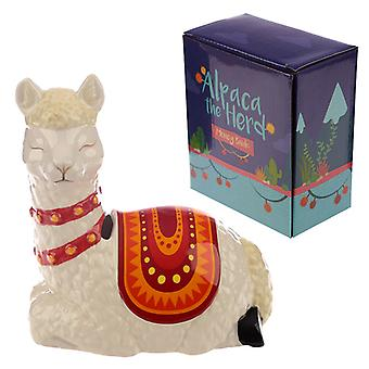 Collectable Ceramic Alpaca Shaped Money Box X 1 Pack