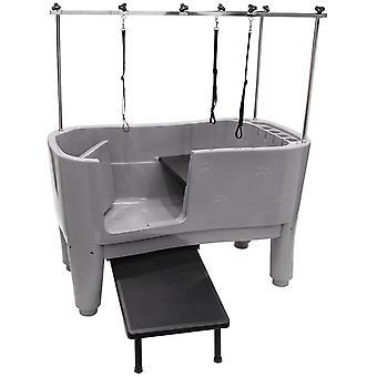 Groom Professional Amazon Pet Grooming Bath Tub Paw Print Design with Ramp