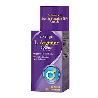 Natrol L-Argnine, 3000 Mg, 90 Tabs
