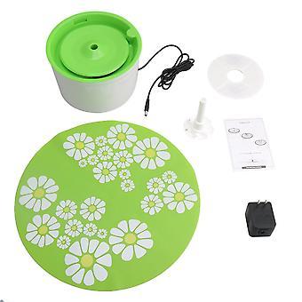 Grüne Blume automatische elektrische Haustiere Trinkmaschine Filter mit Matte