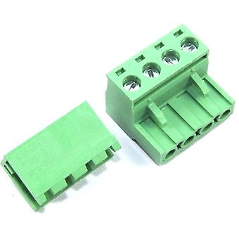 4 Pin Male Right Angle 5.08mm Female Screw Pair Set