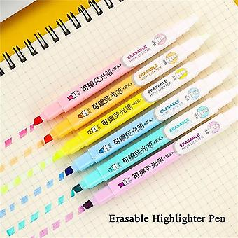 Students Mildliner Highlighters Marker Brush Pens Pastel Markers For Watercolor Fluorescent Pen Drawing