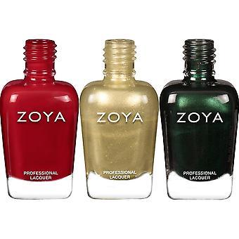 Zoya Intriguing 2020 Holiday Nail Polish Collection - Holiday Season Trio Set (3 X 15ml)