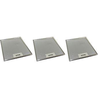 3 x Universal Cooker Hood Metal Grease Filter 258mm x 318mm
