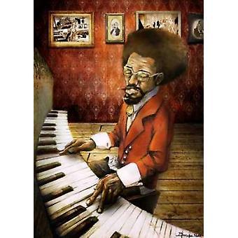 Der Pianist Poster Print von Bresso Sola