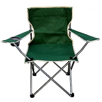 Outdoor Portable Folding Fishing Camping Beach Picnic Chair Seat With Cup
