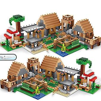 Building Blocks-mountain Cave Light My Worlds Village Warhorse City Tree House