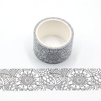 2 rotoli decorativi colorazione floreale in nastro Washi