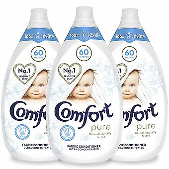 Comfort Intense Pure Fabric Conditioner, Pack van 3, 60 Washes, 900ml